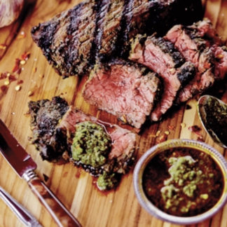 flap-steak-three-peppercorn-marinade-grandmas-cooking